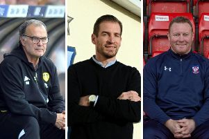ONLINE CHATTER: Marcelo Bielsa, Jan Siewert and Steve Watson.