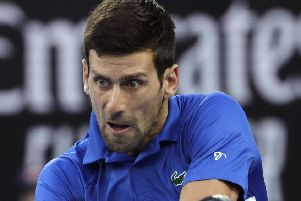 Easy passage: Serbia's Novak Djokovic.