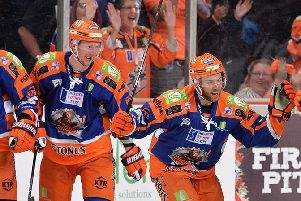 PARTNERS: Sheffield Steelers' defencemen Davey Philips, left, and Ben O'Connor could be playing alongside one another again this weekend.' Picture: Dean Woolley