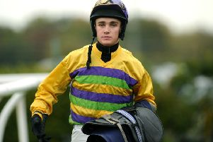 Jockey Tommy Dowson partners Lady Buttons for the first time today.