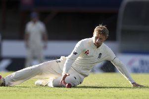 MISERABLE: England's captain Joe Root endured a desperately disappointing few days in Barbados. Picture: AP/Ricardo Mazalan