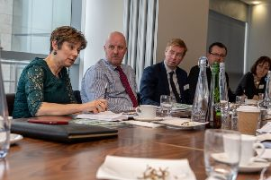 Date:24th January 2019.'Picture James Hardisty.'YP-Business......Womble Bond Dickinson. 1 Whitehall Riverside. Leeds. Roundtable event on manufacturing.