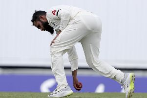 HEADING HOME: England's Adil Rashid struggled to make an impact in the first Test against West Indies in Bridgetown. Picture: AP/Ricardo Mazalan