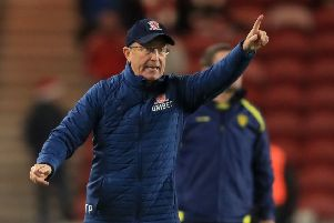 Middlesbrough manager Tony Pulis.