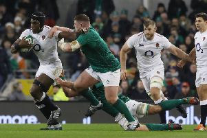 England's Maro Itoje in action against Ireland on Saturday before injury forced him off (Picture: Lorraine O'Sullivan/PA Wire).