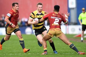 Joe Batchelor in action for York against Catalan last season