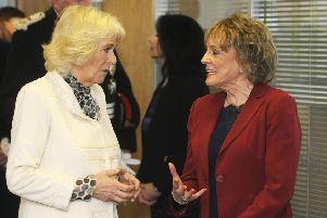 The Duchess of Cornwall visits the offices of The Silver Line where she met Dame Esther Rantzen.