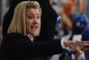 AIMING HIGH: GB Women head  coach, Cheryl Smith. Picture courtesy of Karl Denham/IHUK.