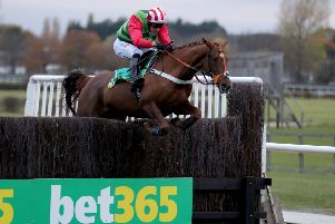 Charlie Hall Chase winner Definitly Red has been handed a tentative entry at Kelso next week.