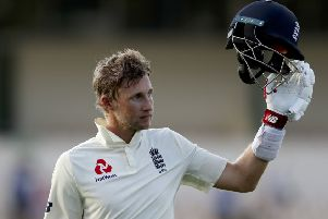 England's captain Joe Root acknowledges the crowd as he leaves the field after day three of the third Test against the West Indies (Picture: Ricardo Mazalan/AP).