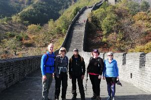 Dan Hill and other volunteers who took part in the Great Wall of China trek for Rosemere