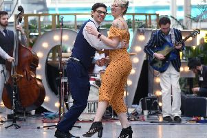 1920s Valentine's swing dance at Victoria Quarter, Leeds. 14th February 2019.