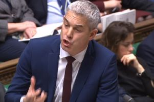 Brexit Secretary Stephen Barclay addressing MPs in the latest debate.