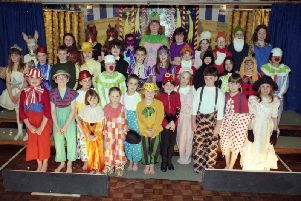 Pupils at South Hylton Primary School, in Sunderland, prepare for their pantomime in 1996.