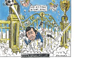 Cartoonist Graeme Bandeira's tribute to Gordon Banks in The Yorkshire Post.