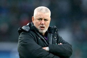 NO LIMITS: Wales coach Warren Gatland. Picture: Gareth Fuller/PA