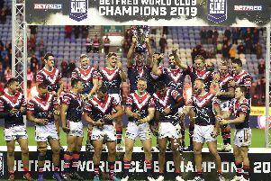 World Club winners the Sydney Roosters