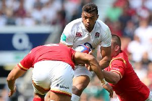 Huddersfield's Luther Burrell: In his England RU days.