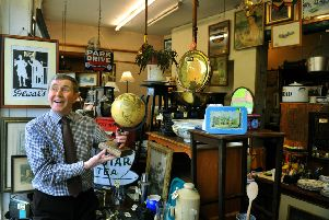 Robin Wetherill , owner of  Bishopgate Antiques on Bishopthorpe Road in York who is retiring after  54 years