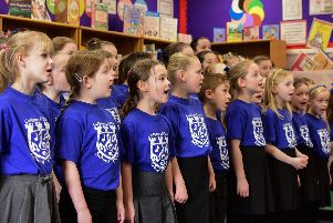 Pupils from Castletown Primary School, who took the title in 2017, performing their winning song.