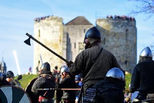 Vikings in front of Clifford's Tower