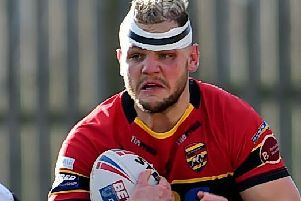 Two-try scorer, Kyle Trout. PIC: Paul Butterfield