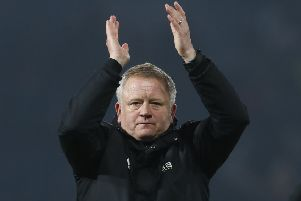 Applauding the support: Blades chief Chris Wilder after victory at the Hawthorns.