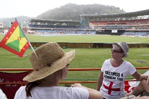Spectators waited in vain for the start of the third ODI between England and the West Indies as rain caused its abandonment in Grenada (Picture: Ricardo Mazalan).