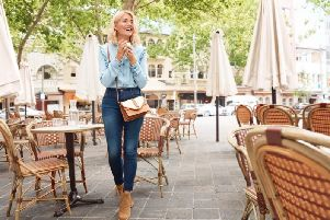 Holly wears denim shirt, 25, and jeans, 19.50.