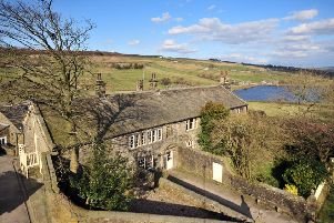 Ponden Hall sits next to Ponden reservoir  in a hidden away spot on the edge of the moor.