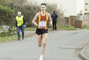 Spenborough's Joe Sagar followed up victory at the Liversedge Half Marathon with a creditable performance at the National Cross Country Championships held  at Harewood House last Saturday. Picture: Allan McKenzie