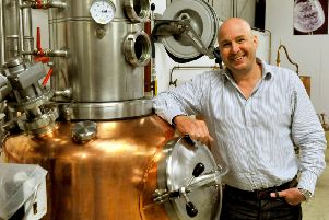 Karl Mason, director and co-founder of Masons Gin, pictured at the distillery in Bedale. Picture by Gary Longbottom.