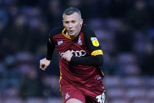 Paul Caddis takes over Bradford City's captaincy from Anthony O'Connor (Picture: Tony Johnson).