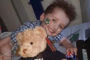 Northumberland youngster Jackson, who is being supported by the Lucy Air Ambulance for Children.