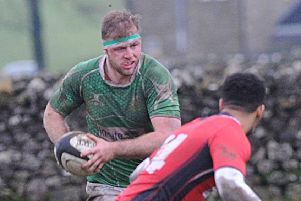 Josh Burridge scored for Wharfedale but they were beaten 37-10 by Leicester Lions (Picture: Scott Merrylees).