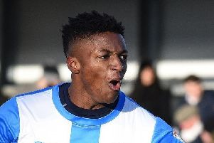 Loanee Devante Rodney netted FC Halifax Town's first home league goal since January 1 on his home bow.