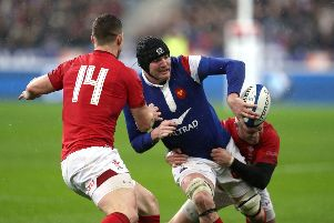 Flanker Arthur Iturria is hoping France don't run into a green wall against Ireland. PIC: David Davies/PA Wire