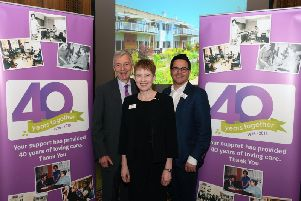 St Gemma's Hospice chairman Dr Peter Belfield, chief executive Kerry Jackson and chief medical officer Dr Mike Stockton.