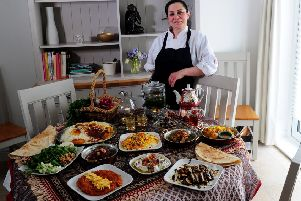 Oliver Review on Afsaneh Kaviani Persian Kitchen, Moortown, Leeds..4th March 2019.Picture by Simon Hulme