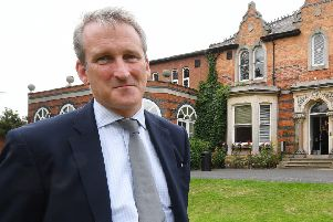 Education Secretary Damian Hinds during a visit to Scarborough.