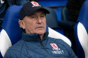 Middlesbrough manager Tony Pulis: Penalty claims.
