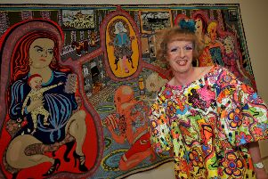 Artist Grayson Perry at one of his previous exhibitions at Sunderland Museum