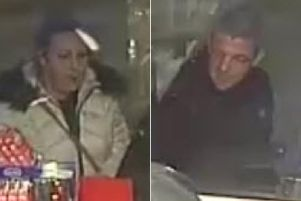 Police have released these CCTV images of two people they want to speak to in connection with the burglary of a 93-year-old man in Bailiff Bridge. Photo credit: West Yorkshire Police