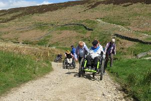 Yorkshire Water has worked in partnership with the Yorkshire Dales National Park Authority to improve pathways for disabled access at Grimwith Reservoir near Pateley Bridge. Picture: Experience Community.