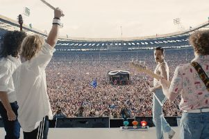 Undated film still handout from Bohemian Rhapsody. Pictured: Gwilym Lee as Brian May, Ben Hardy as Roger Taylor, Rami Malek as Freddie Mercury and Joseph Mazzello as John Deacon.  PA Photo/Twentieth Century Fox Film Corporation. All Rights Reserved.