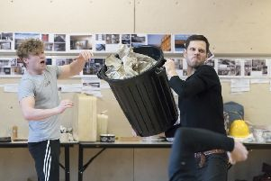Rehearsals for new musical Standing at the Sky's Edge. (Pictures: Johan Persson).