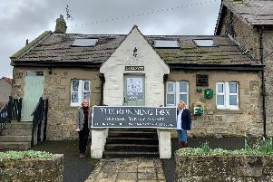 Owner Kris Blackburn, left, and her business partner Becky Bagnall outside the new site at the Farriers Arms in Shilbottle.