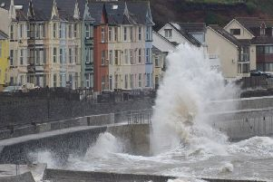A spell of strong winds has hit the North West and weather warnings has been put in place.