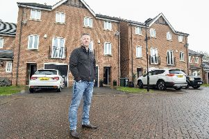 Russell King outside his property in Mexborough which is outside the HS2 safeguarded zone