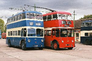 The two Manchester area trolleybuses that will be running at the Trolleybus Museum at Sandtoft in 2012